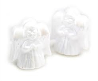 Angel Pony Beads - Pearl White