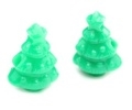 Christmas Tree Pony Beads - Opaque Green