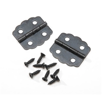Hinge Sets - Black Curved - 7/8 inch