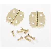 Brass Hinges - Curved - 7/8""