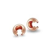 Rose Gold Filled Crimp Covers - 3mm