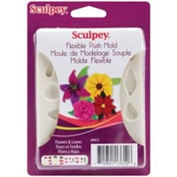 Sculpey Push Mold Flowers & Leaves Mold
