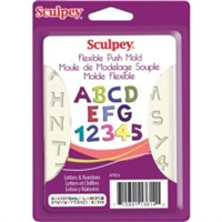 Sculpey Push Mold Letters & Numbers Mold