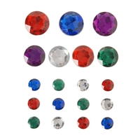 Darice Sticky Back Gems - Round Multi, 19pcs