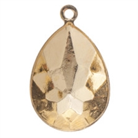 Swarovski Gold Plated Charm Setting - Fits #4327 Large Pear Fancy Stone -30 x 20mm