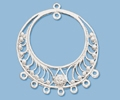 Sterling Silver Chandelier Pendant - Style 18