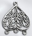 Sterling Silver Chandelier Pendant - Heart