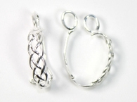Sterling Silver Braided Hinged Donut Bail