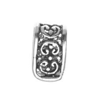 Sterling Silver Oxidized Fancy Bail - Large