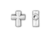 Sterling Silver Cross Bead - 8x7mm - 1.6mm Hole Size