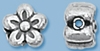 Sterling Silver 7mm Flower Bead - 1.5mm Hole Size