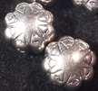 Sterling Silver Flower Bead - 9mm
