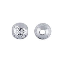 Sterling Silver Pyramid Cut Bead - 4mm - 1.5mm Hole Size