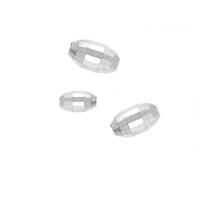 4mm x 6mm Sterling Silver Mirrored Oval Bead