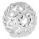 Sterling Silver Rope Trim Flower Bead Cap - 6mm