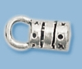 Sterling Silver End Cap with Eye- 1mm
