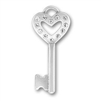 Crystal Heart Key