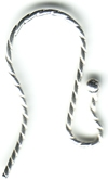 Sterling Silver Twisted Earwire