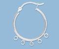 Sterling Silver Hoops with Loops - 20mm, 5 Loops