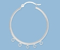 Sterling Silver Hoops with Loops - 30mm, 5 Loops