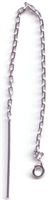 Sterling Silver Threader Earring - Cable Chain with Ring #1