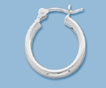 Sterling Silver Tube Hoop - 15mm