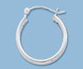 Sterling Silver Tube Hoop - 20mm