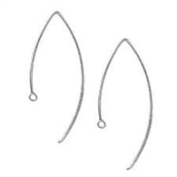 Sterling Silver Fancy Earwire - Round