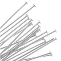 Sterling Silver Headpins - 22 gauge, 2 inch