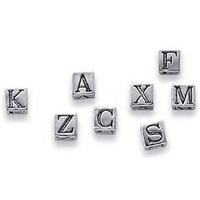 6mm Sterling Silver Letter Beads