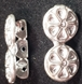 Sterling Silver Flower Spacer Bar - 3 Strand, 8mm