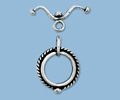 Sterling Silver Bicycle Toggle - Large