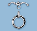 Sterling Silver Bicycle Toggle - Small
