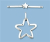 Sterling Silver Star Toggle