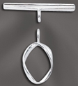 Sterling Silver Fancy Oval Toggle