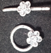 Sterling Silver Flower Toggle