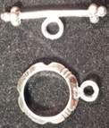 Sterling Silver Notched Toggle