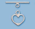 Sterling Silver Plain Heart Toggle