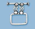Sterling Silver Rectangle 2-Strand Toggle