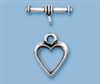 Sterling Silver Small Heart Toggle