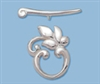 Sterling Silver Smooth Leaf Toggle