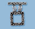 Sterling Silver Square 2-Strand Toggle