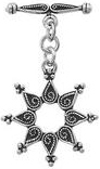 30 mm Sterling Silver Star Toggle