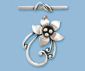 Sterling Silver Starflower Toggle