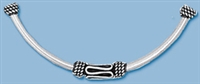 Sterling Silver Bali Style Barrel Curved Tube
