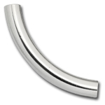 Sterling Silver Curved Tube - 5mm x 40mm