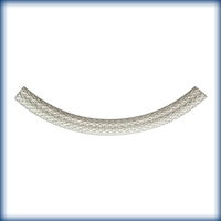 Sterling Silver Decortative Curved Tube - Mesh