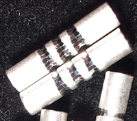 Sterling Silver Satin 3 Line Diamond Cut - 3mm x 10mm