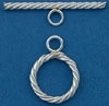 Sterling Silver Filled Twisted Toggle - 17mm