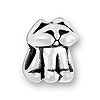 Sterling Large Hole Bead - Cat